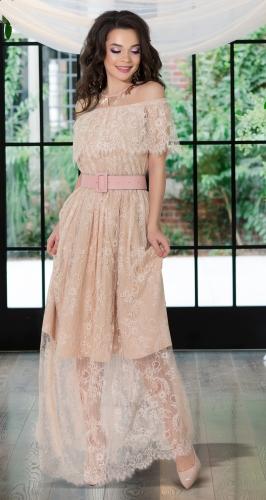 Длинное кружевное платье № 4171