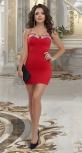Красное платье с кристаллами № 1818