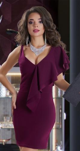 Вечернее платье № 3643 ,бордовое