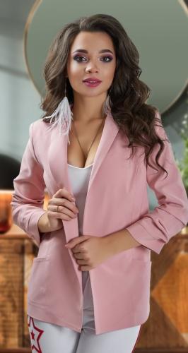 Пудровый пиджак № 3622