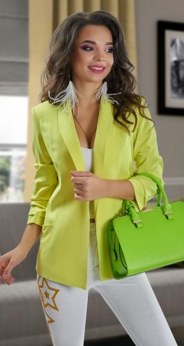Лимонный пиджак № 3622