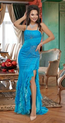 Голубое платье № 27028
