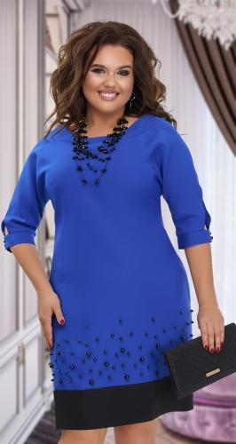 Стильное платье с жемчужинами № 38161