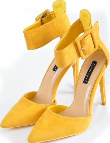 Туфли горчичные