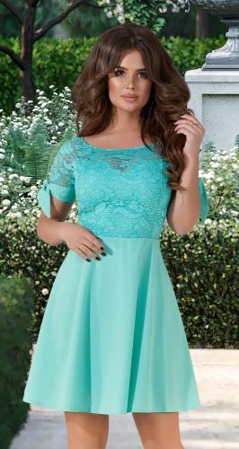 Красивое нарядное платье № 3128 ,мятное