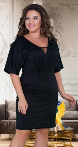 Свободное нарядное платье № 38991 ,чёрное
