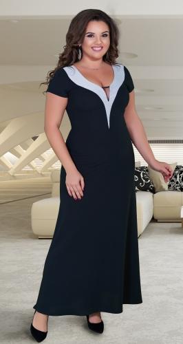 Восхитительное длинное чёрное платье № 39001