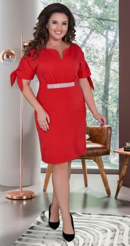 Красивое платье № 39131,красное