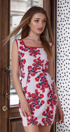 Короткое платье с красивой юбочкой № 1067