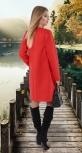 Кашемировое пальто № 4013 , коралл