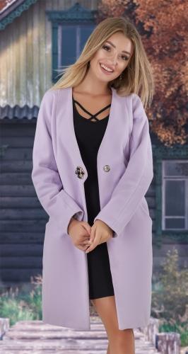 Кашемировое пальто № 4013 , светлая фуксия