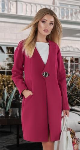 Кашемировое пальто № 4013 , фуксия
