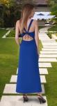 Трикотажный сарафан № 4018,ярко синий