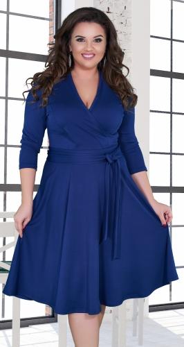 """Платье """"на запах"""" с расклешённой юбкой и поясом № 38741"""