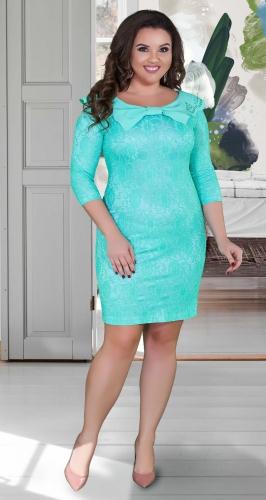 Изящное гипюровое платье с красивым декольте №1674