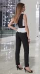Костюм с узкими брюками № 3378 , чёрно - белый