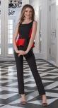 Костюм с узкими брюками № 3378 , чёрный с красным