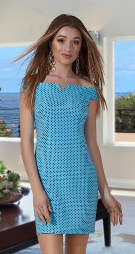 Короткое платье с от крытыми плечиками № 3403