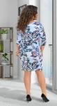 Красивое короткое платье № 141921,голубое