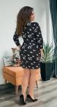 Стильное платье № 32161,чёрное с белым