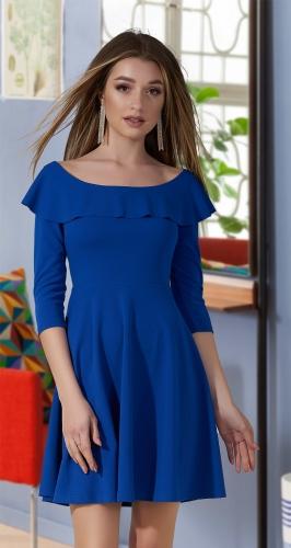 Красивое  платье № 3607N,ярко синее