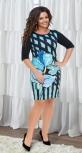 Яркое  платье с принтом № 13911