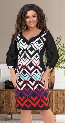 Праздничное платье № 16681,с шифоновым рукавом.
