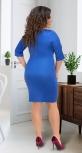 Яркое облегающее платье № 13912,голубое