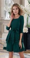Красивое платье № 3312 , изумрудное