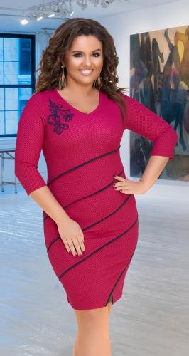 Нарядное платье № 34261 ,фуксия