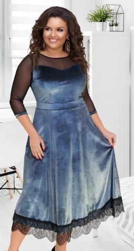 Нарядное длинное платье № 17331,серебристое