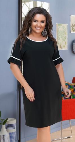Эффектное кокетливое чёрное платье № 17911