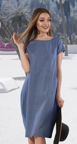 Стильное объёмное платье № 3268
