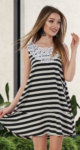 Лёгкое платье в полоску № 3127