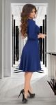 """Платье """"на запах"""" с расклешённой юбкой и поясом № 3874"""
