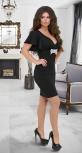 Нарядное мерцающее платье № 3925,чёрное