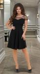 Нарядное чёрное платье с красивой спинкой № 3591