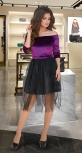 Вечернее бархатное платье-пачка № 1676
