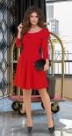 Красивое красное платье № 3607