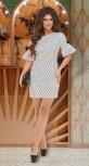 Лёгкое летнее платье в горошек № 36103,белое