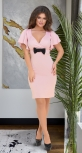Нарядное мерцающее платье № 3925,пудровое