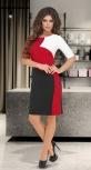 Стильное яркое платье № 3945