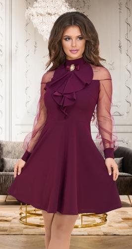Нарядное платье № 3918,марсала