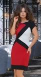 Асимметричное стильное платье  № 3423