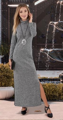 Длинное платье из ангоры № 4065