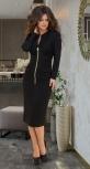 """Узкое платье """"миди"""" с дорогим декором № 315,чёрное"""