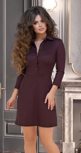 Стильное платье № 3205,бордовое
