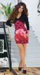 Эффектное платье с ярким принтом № 31642