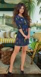 Короткое  платье с юбочкой-трапецией № 3051