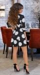 Стильное короткое платье в горох № 3204